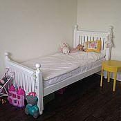 Для дома и интерьера ручной работы. Ярмарка Мастеров - ручная работа Деревянная кровать (002). Handmade.