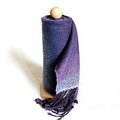 """Аксессуары ручной работы. Ярмарка Мастеров - ручная работа Тканый шарф """"Purple Wind"""". Handmade."""