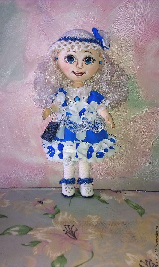 Куклы тыквоголовки ручной работы. Ярмарка Мастеров - ручная работа. Купить Милые подружки - голубоглазая Белоснежка. Handmade. Текстильная кукла