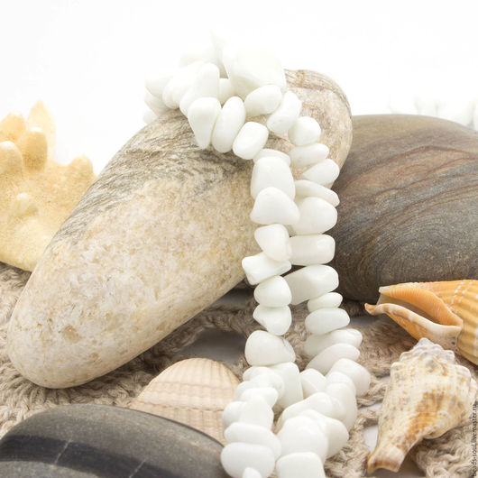 Для украшений ручной работы. Ярмарка Мастеров - ручная работа. Купить Агат белый крошка, 10г - арт.2-08. Handmade.