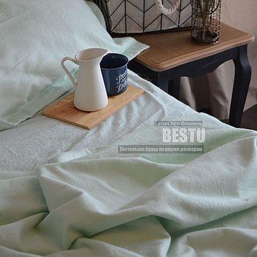 """Для дома и интерьера ручной работы. Ярмарка Мастеров - ручная работа Постельное белье из фланели """"Мята"""", комплект постельного белья. Handmade."""