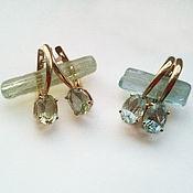 Украшения handmade. Livemaster - original item Beryl Gold Earrings. Handmade.