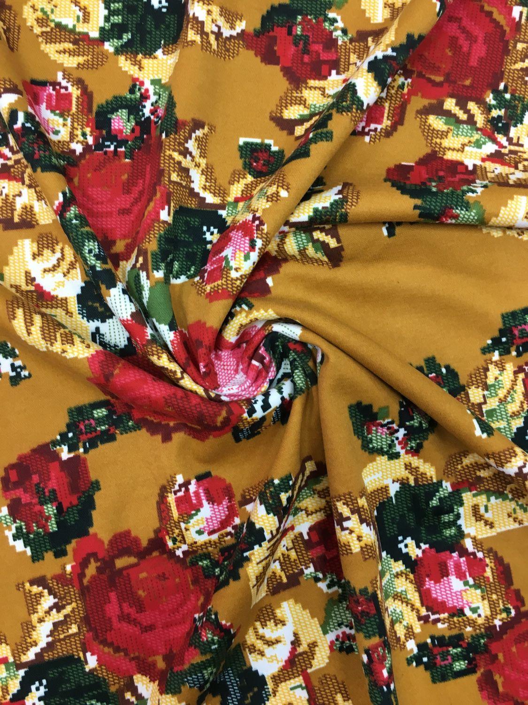 Шитье ручной работы. Ярмарка Мастеров - ручная работа. Купить 85501 ткань яркий трикотаж. Handmade. Трикотажное платье, трикотаж