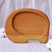 Посуда handmade. Livemaster - original item Children`s wooden plate Elephant. Handmade.