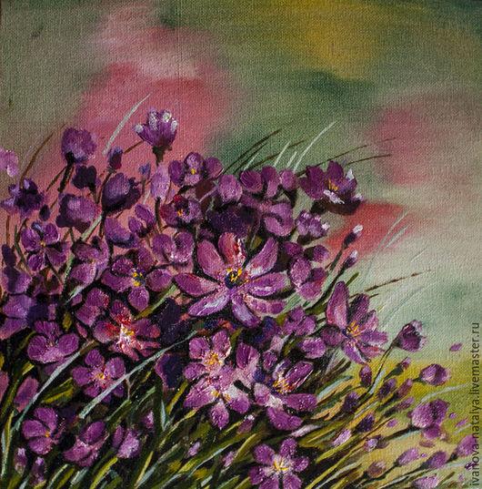 Картины цветов ручной работы. Ярмарка Мастеров - ручная работа. Купить розовый цвет. Handmade. Фуксия, лето, природа