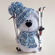 Куклы и игрушки handmade. Livemaster - original item Bear Skier.. Handmade.