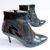 """Обувь ручной работы. Ярмарка Мастеров - ручная работа Ботильоны """"Лаковые"""". Handmade."""