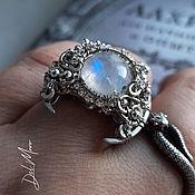 Украшения handmade. Livemaster - original item Ring with a white marble stone, moonstone