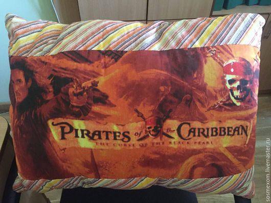 Текстиль, ковры ручной работы. Ярмарка Мастеров - ручная работа. Купить Пираты Карибского моря. Handmade. Постельный комплект, коричневый