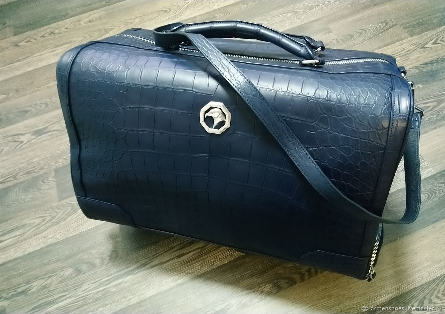 Travel bag made of genuine crocodile leather, for travel!, Travel bag, Tosno,  Фото №1
