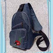 Сумки и аксессуары handmade. Livemaster - original item Single-strap backpack sling