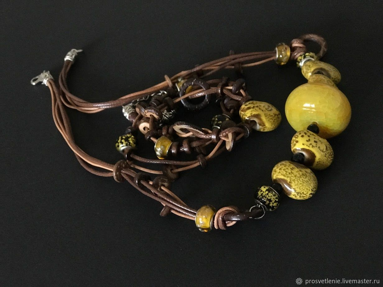 Jewelry sets: necklace bracelet autumn colors stylish boho jewelry, Jewelry Sets, Voronezh,  Фото №1