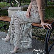 """Одежда ручной работы. Ярмарка Мастеров - ручная работа Вязаная летняя юбка """"Летний вечер"""". Handmade."""