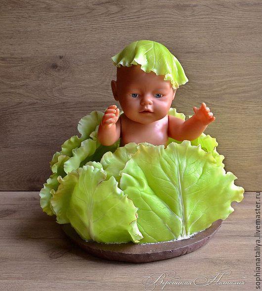 Интерьерные композиции ручной работы. Ярмарка Мастеров - ручная работа. Купить Листья капусты из полимерной глины Сочный Зеленый. Handmade.