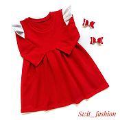 Платья ручной работы. Ярмарка Мастеров - ручная работа Новогоднее платье для девочки. Handmade.
