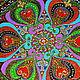 Этно ручной работы. картина на стекле мандала Счастливая. Юлия-Yulitaya. Ярмарка Мастеров. Счастье, контуры по стеклу, краски витражные
