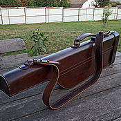 Сувениры и подарки handmade. Livemaster - original item Leather trunk for a gun, mod.Deutsch Lux Merkel Antic. Handmade.