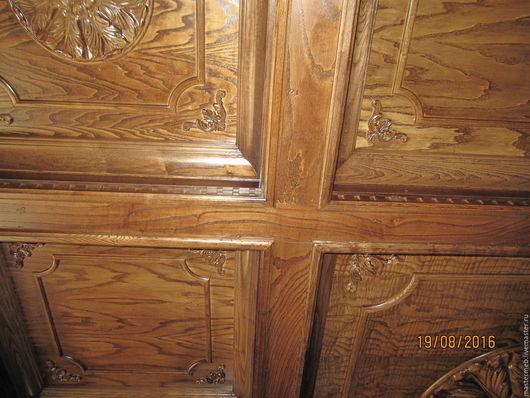 Декор поверхностей ручной работы. Ярмарка Мастеров - ручная работа. Купить Кессонный потолок. Handmade. Коричневый, дерево натуральное