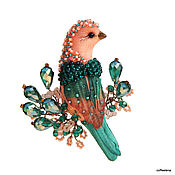 Украшения handmade. Livemaster - original item Brooch-bird