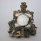 Для дома и интерьера handmade. Livemaster - original item Bronze clock Five angels. Handmade.