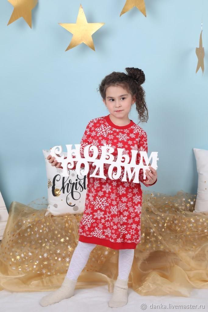 Платье на девочку из футера 2 нитки