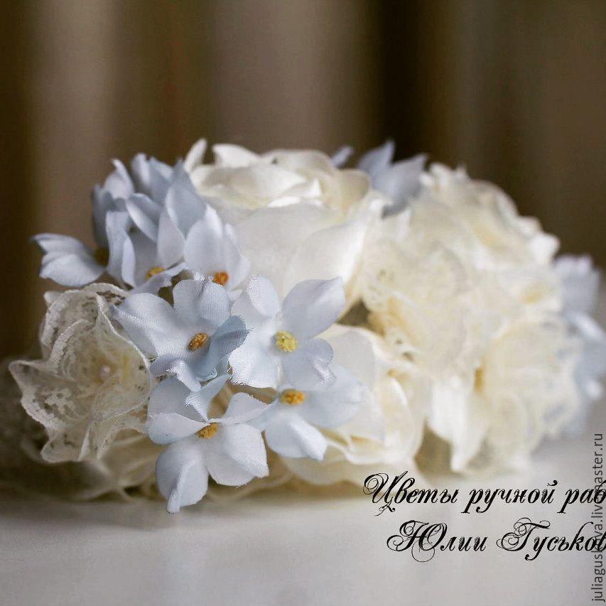 Диадемы, обручи ручной работы. Ярмарка Мастеров - ручная работа. Купить Свадебное украшение. Handmade. Цветы, кремовый, цветы в прическу