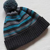 Работы для детей, ручной работы. Ярмарка Мастеров - ручная работа Зимняя мериносовая шапочка для мальчика. Handmade.