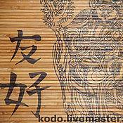 Фен-шуй и эзотерика ручной работы. Ярмарка Мастеров - ручная работа бамбуковое панно Дружба. Handmade.