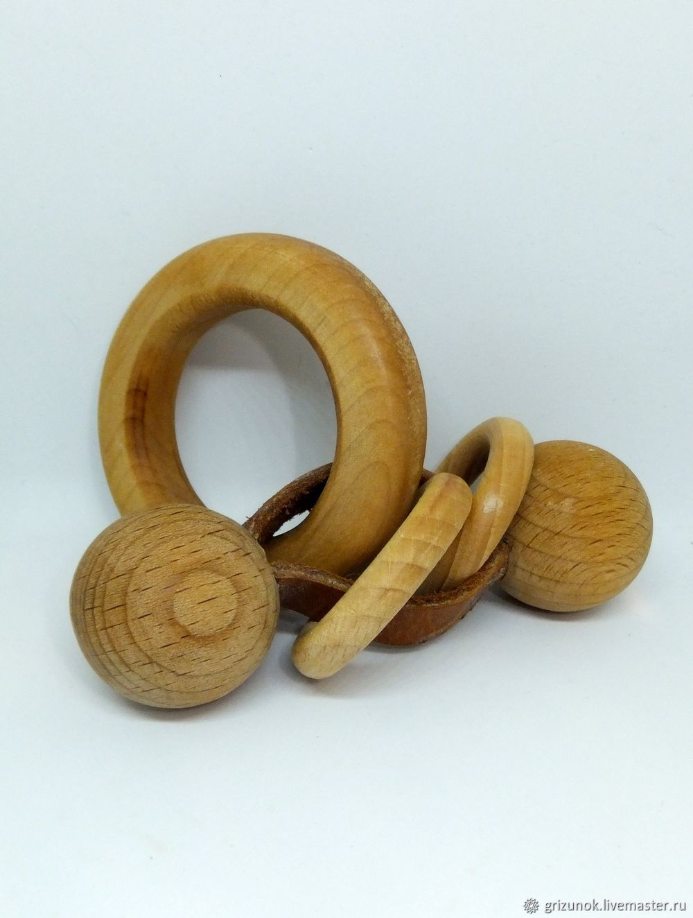 Wooden toy rattle Motor skills, Teethers rattles, Moscow,  Фото №1