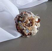 Украшения ручной работы. Ярмарка Мастеров - ручная работа Авторское вышитое кольцо Агнесс. Handmade.