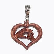 Украшения handmade. Livemaster - original item Wooden heart pendant for mother. Handmade.