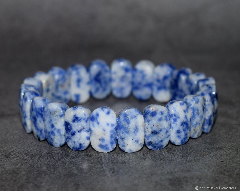 Natural sodalite cut bracelet, Bead bracelet, Moscow,  Фото №1