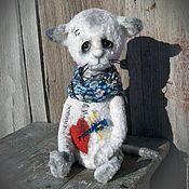 Куклы и игрушки ручной работы. Ярмарка Мастеров - ручная работа Таисья. котенок тедди котик тедди. Handmade.