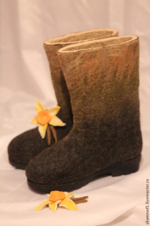 """Обувь ручной работы. Ярмарка Мастеров - ручная работа. Купить Валенки для улицы """"Настроение"""". Handmade. Валенки, уличная обувь"""