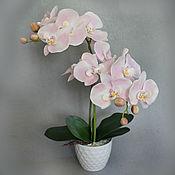 Цветы и флористика ручной работы. Ярмарка Мастеров - ручная работа Орхидея розовая с крупными цветами. Handmade.