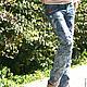 Брюки, шорты ручной работы. Ярмарка Мастеров - ручная работа. Купить Лазурный берег. Handmade. Голубой, рептилия, Джинсовая ткань