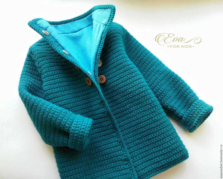 Мастер класс вязание пальто детское для