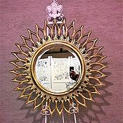 "Зеркала ручной работы. Ярмарка Мастеров - ручная работа Зеркало Солнце "" Мехико "". Handmade."
