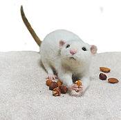 Куклы и игрушки handmade. Livemaster - original item Rat Goodwin Felted toy made of wool. Handmade.
