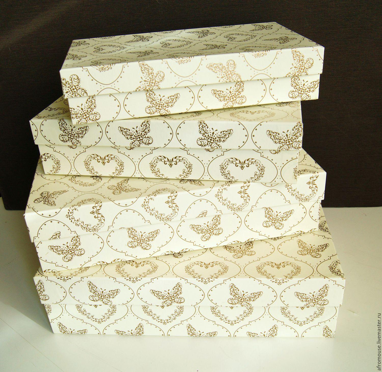 Подарочная прямоугольная коробочка 80