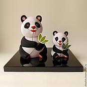 Куклы и пупсы ручной работы. Ярмарка Мастеров - ручная работа Семейство панд, панды - коллекционные куклы кимекоми kimekomi doll. Handmade.