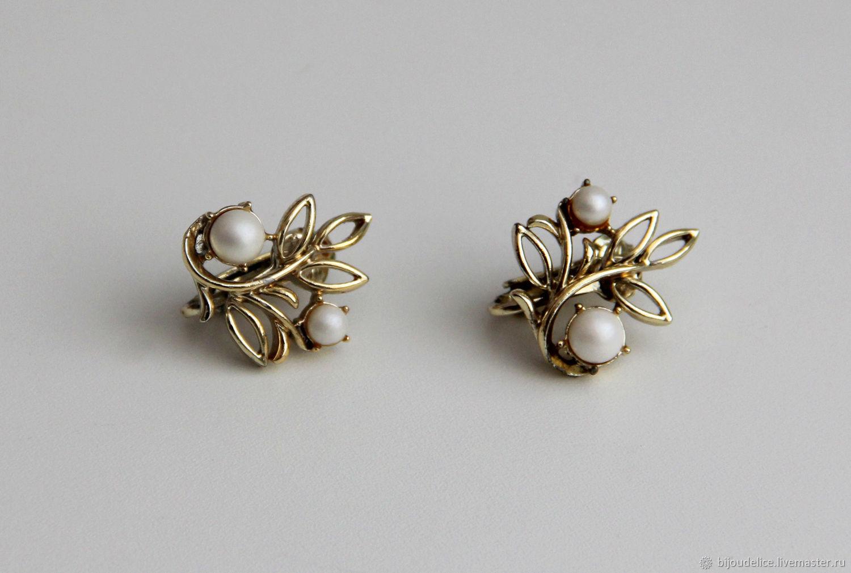 Vintage clips on earrings Jewelcraft, Vintage earrings, St. Petersburg,  Фото №1