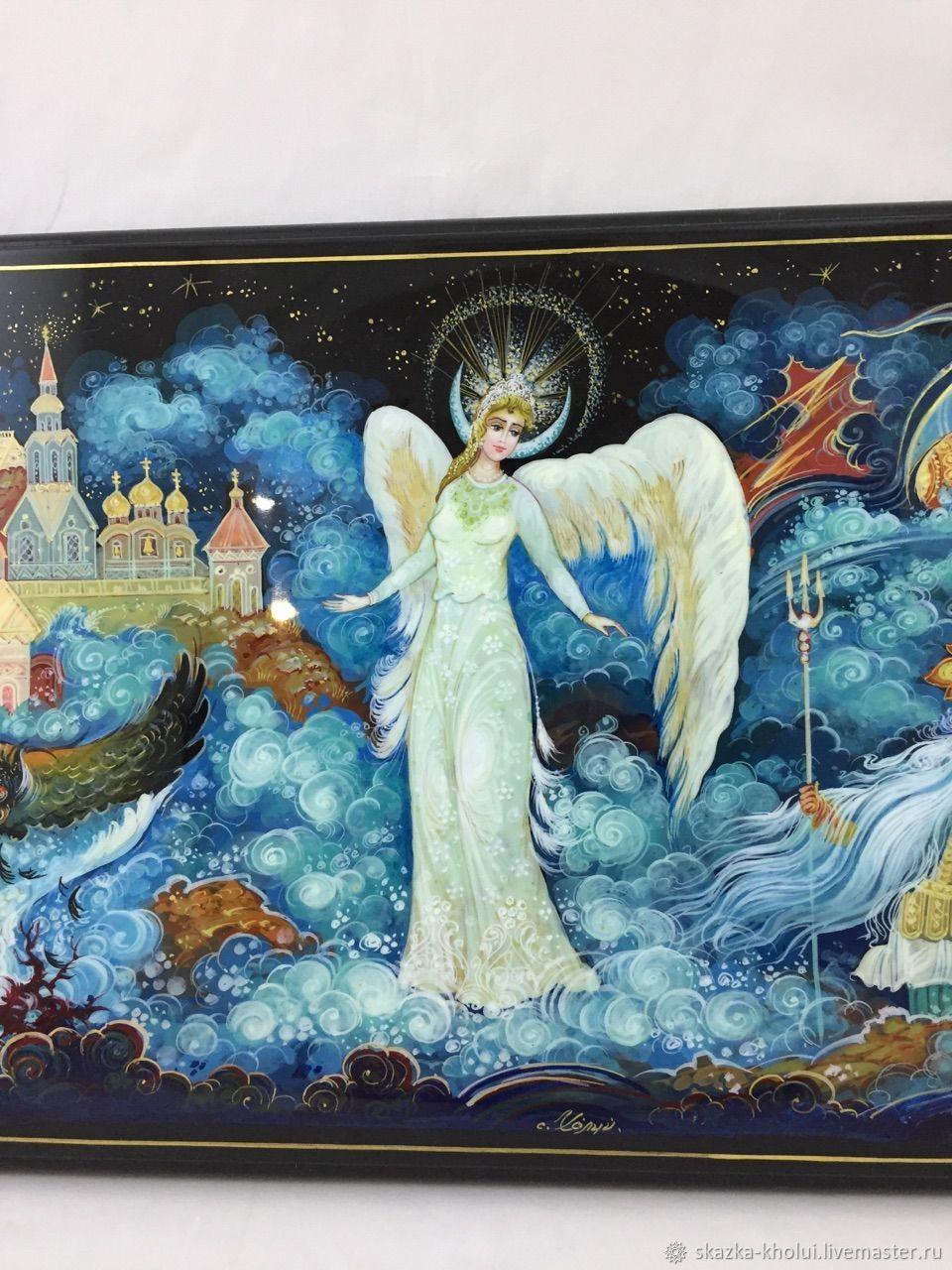 The Swan Princess.Decorative panel, miniature, Pictures, Yuzha,  Фото №1