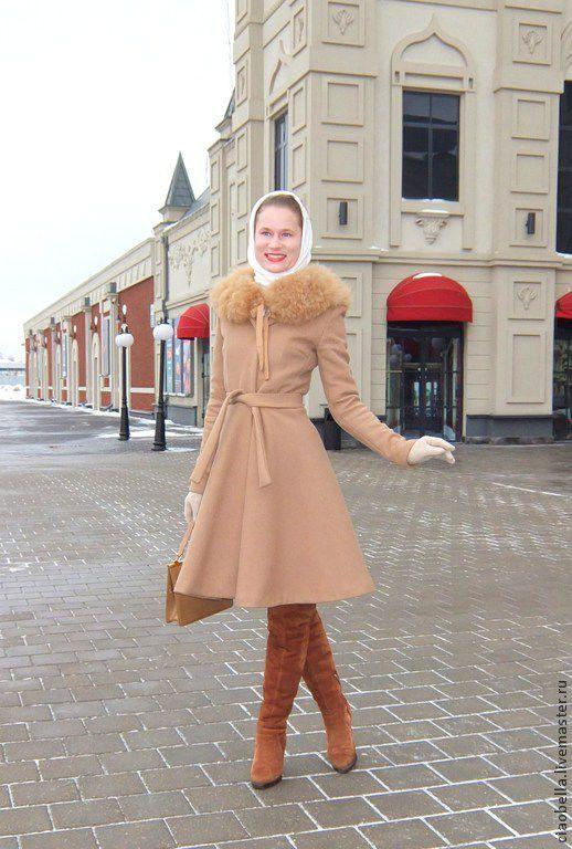 """Верхняя одежда ручной работы. Ярмарка Мастеров - ручная работа. Купить Бежевое пальто """"Donna"""", зима. Handmade. Бежевый"""