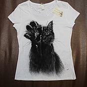 """Майка/футболка с рисунком """"Black & white"""""""