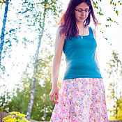 Одежда handmade. Livemaster - original item Weightless skirt in floor. Handmade.