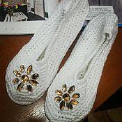 """Обувь ручной работы. Ярмарка Мастеров - ручная работа Домашние тапочки """"Блеск"""". Handmade."""