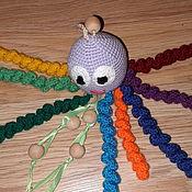 Куклы и игрушки handmade. Livemaster - original item Knitted toy-octopus rattle. Handmade.