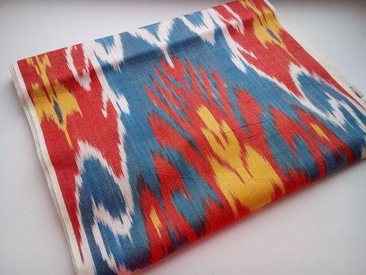 Шитье ручной работы. Ярмарка Мастеров - ручная работа. Купить Ткань ручного ткачества Икат. Handmade. Икат