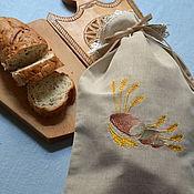 Для дома и интерьера handmade. Livemaster - original item Linen bag for bread